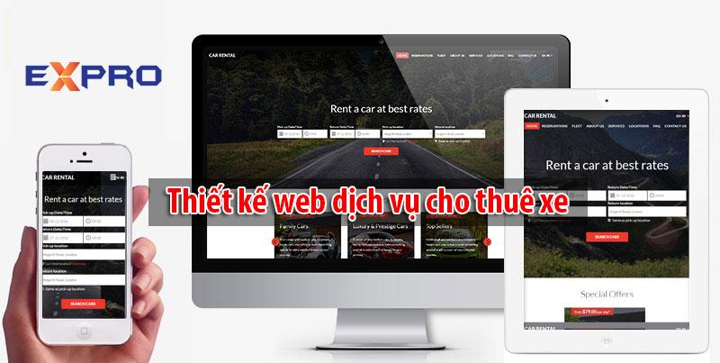 Làm web cho thuê xe ô tô