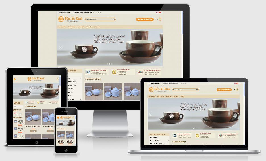 Thiết kế web gốm sứ chuyên nghiệp