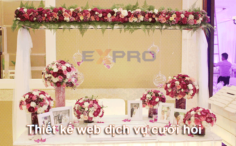Thiết kế web dịch vụ cưới hỏi chuyên nghiệp