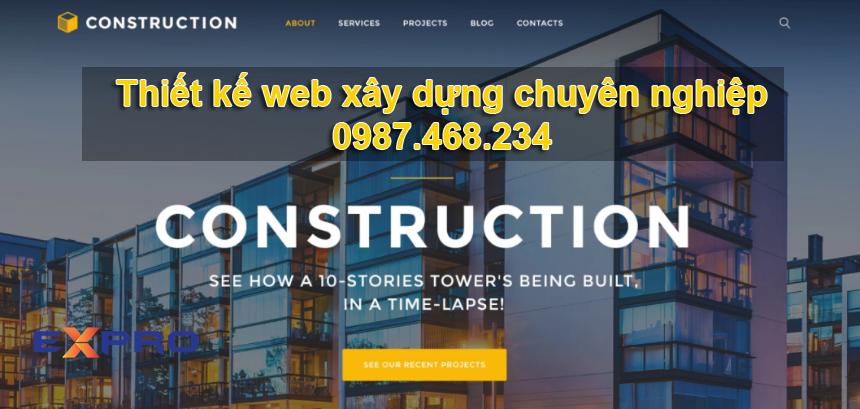 Thiết kế web xây dựng chuyên nghiệp