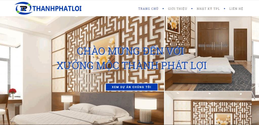 Thiết kế website xưởng gỗ mộc chuyên nghiệp