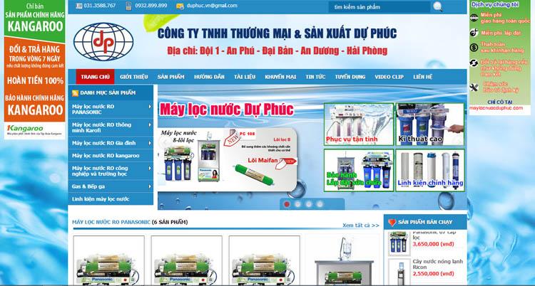 Thiết kế website công ty bán hàng máy lọc nước