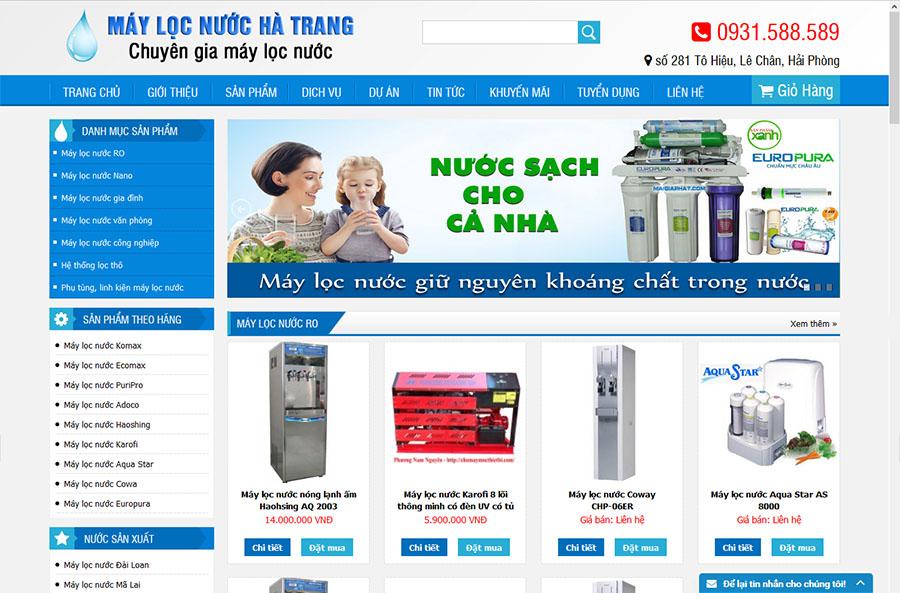 Thiết kế web máy lọc nước