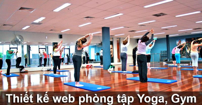 Thiết kế web phòng tập yoga, gym, thể hình
