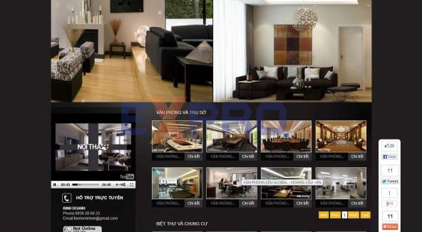 Thiết kế web bán hàng nội thất bàn ghế