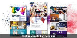 Thiết kế web cửa hàng, công ty bán sơn nước, Sơn tĩnh điện