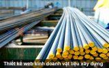 Thiết kế web công ty kinh doanh vật liệu xây dựng