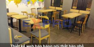 Thiết kế web bán bàn ghế nội thất chuyên nghiệp