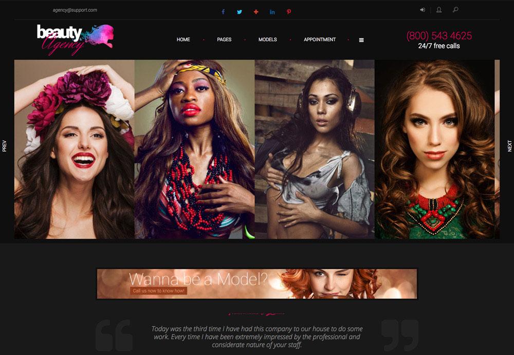 Thiết kế website công ty người mẫu
