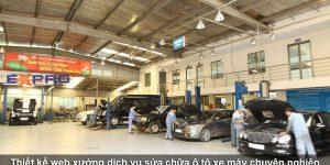Thiết kế website xưởng sửa chữa ô tô, xe máy uy tín chuẩn SEO