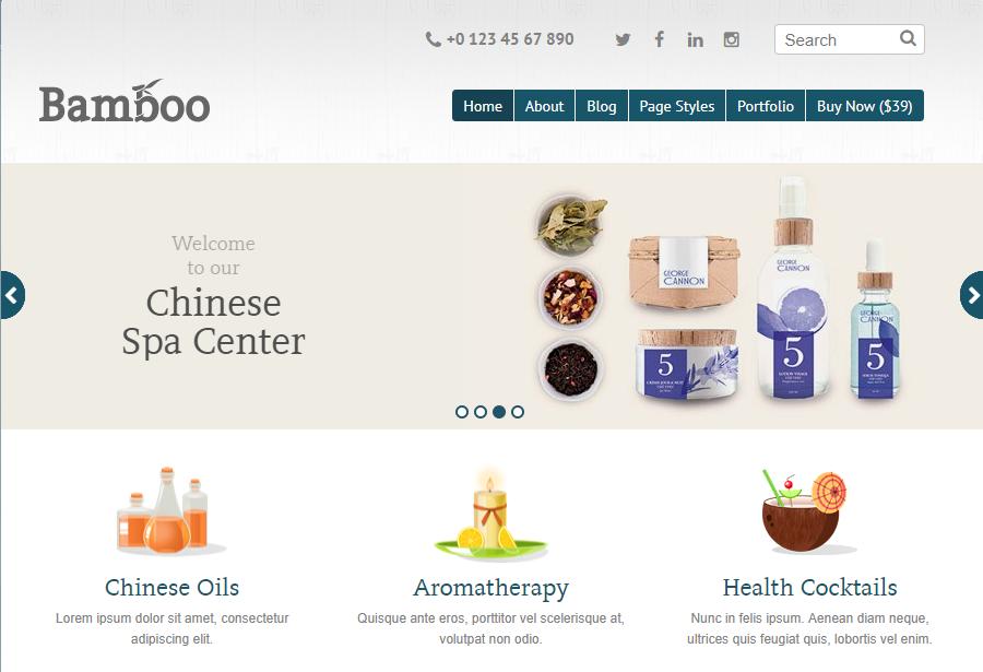 Mẫu website nhà hàng Bamboo