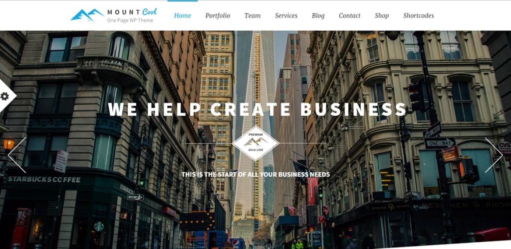 Mẫu web giới thiệu công ty kinh doanh