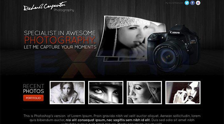 Thiết kế web nghệ thuật – nhiếp ảnh chuyên nghiệp, độc đáo
