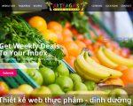 Thiết kế web thực phẩm, dinh dưỡng chuyên nghiệp chuẩn SEO