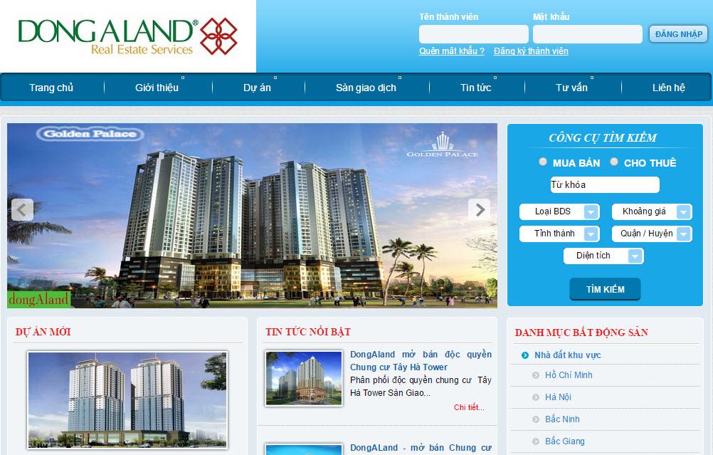 Thiết kế web landing page bất động sản
