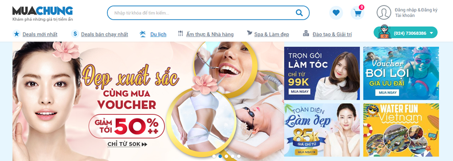 Thiết kế website deal group coupon