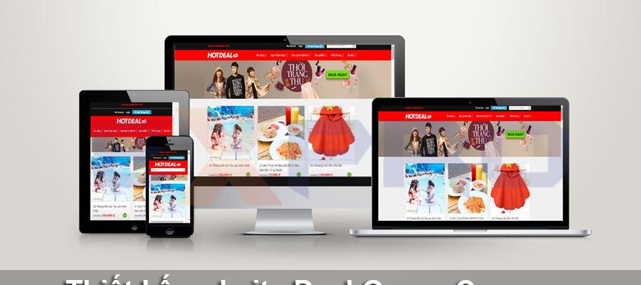 Thiết kế web deal, group coupon chuyên nghiệp
