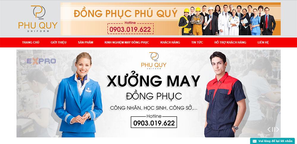 Thiết kế web bán đồ đồng phục