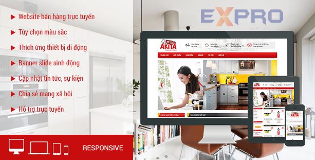 Thiết kế web bán đồ dùng nhà bếp