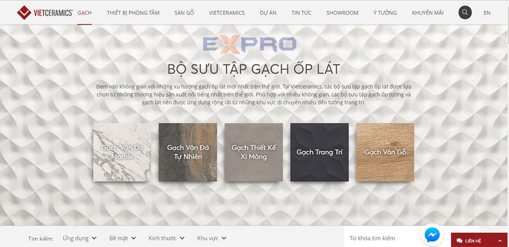 Thiết kế web bán hàng gạch ốp lát chuyên nghiệp