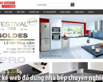 Thiết kế web đồ dùng nhà bếp đẹp và độc đáo