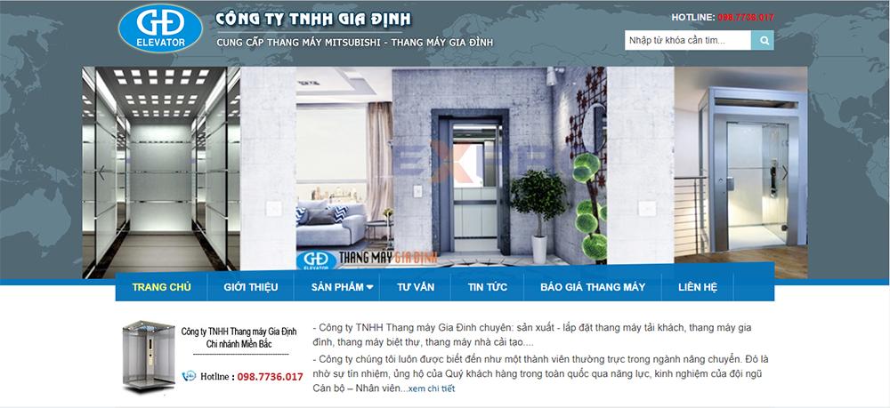 Thiết kế website bán hàng thang máy chuyên nghiệp