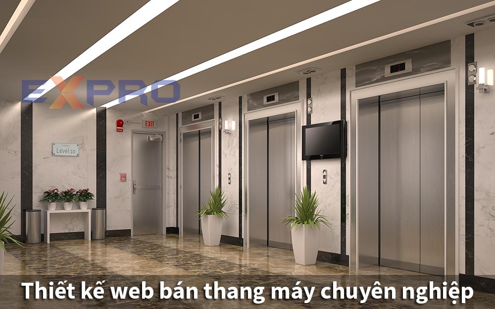 Thiết kế web bán thang máy chuyên nghiệp