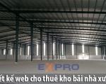 Thiết kế web dịch vụ cho thuê kho bãi nhà xưởng