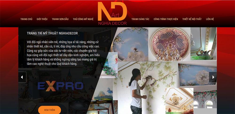 Thiết kế web dịch vụ vẽ tranh tường 3D