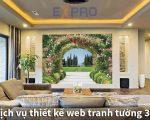 Thiết kế web dịch vụ vẽ tranh tường đẹp mắt Top Google