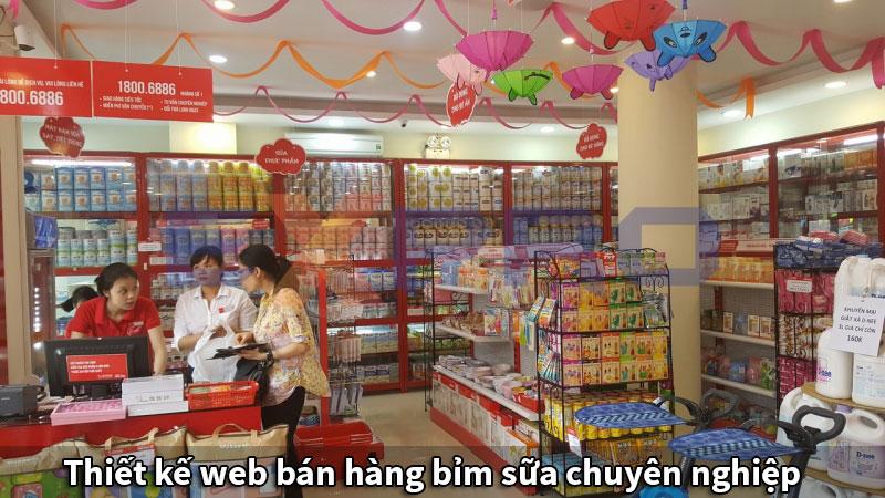 Thiết kế web bán hàng bỉm sữa chuyên nghiệp