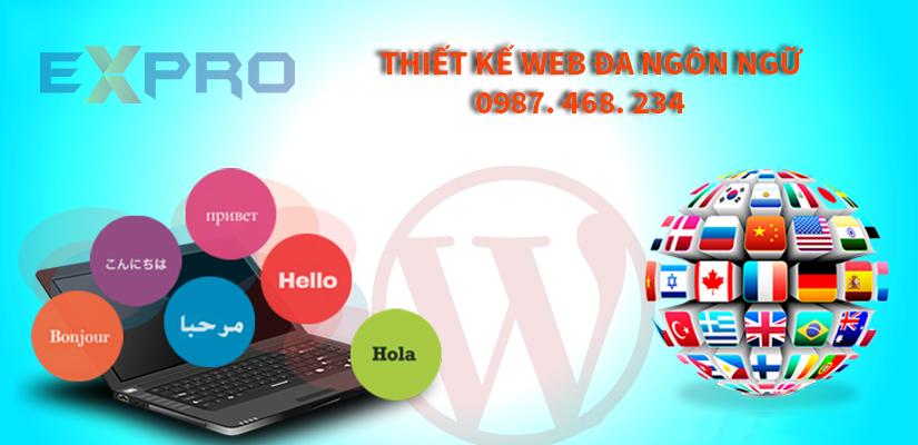 Thiết kế web đa ngôn ngữ giá rẻ, chất lượng