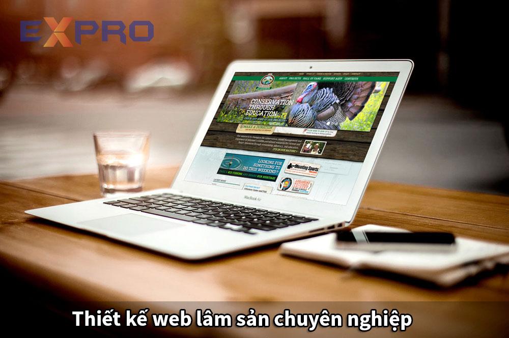 Thiết kế website lâm sản chuyên nghiệp