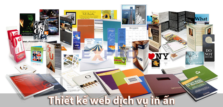 Thiết kế web dịch vụ in ấn