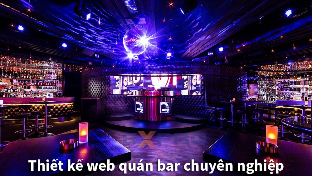 Thiết kế web quán bar chuyên nghiệp