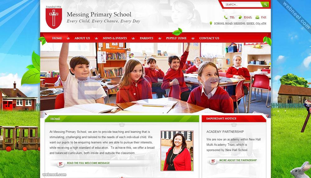 Thiết kế web giáo dục trường học