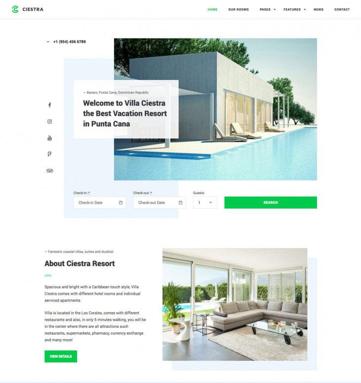Ciestra - Resort WordPress