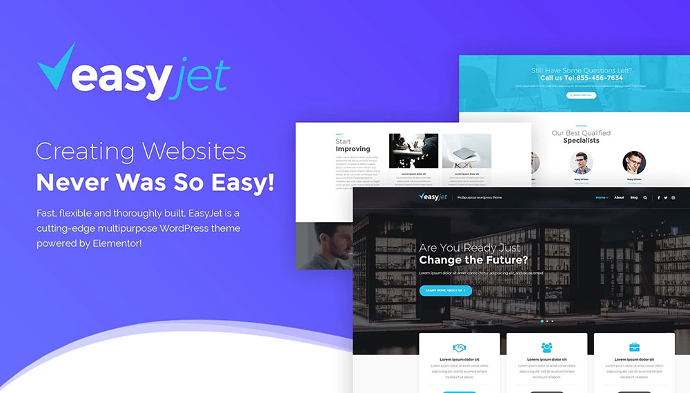 EasyJet – Multipurpose WordPress Theme
