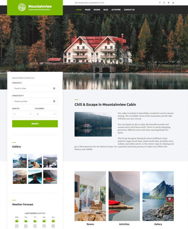 Mountainview – Vacation Rental WordPress Theme