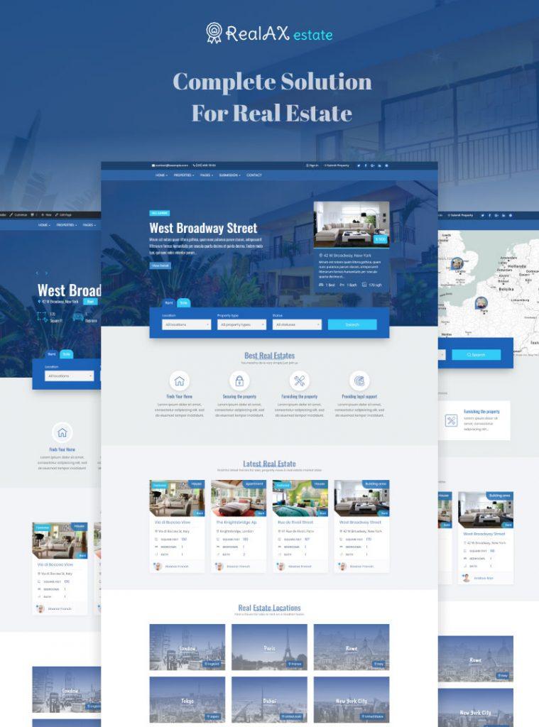RealAX – Premium Real Estate WordPress Theme