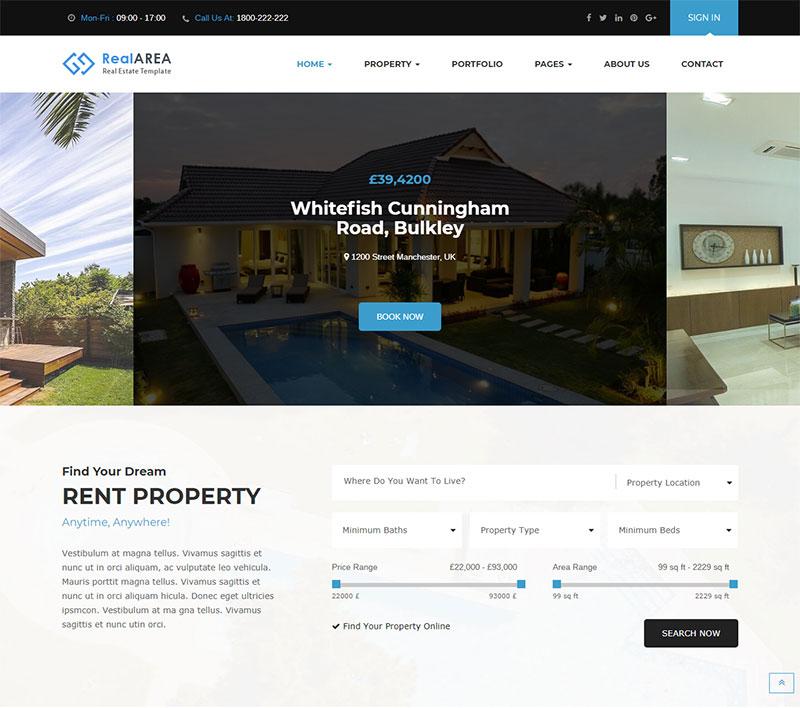 RealArea – RealEstate WordPress Theme