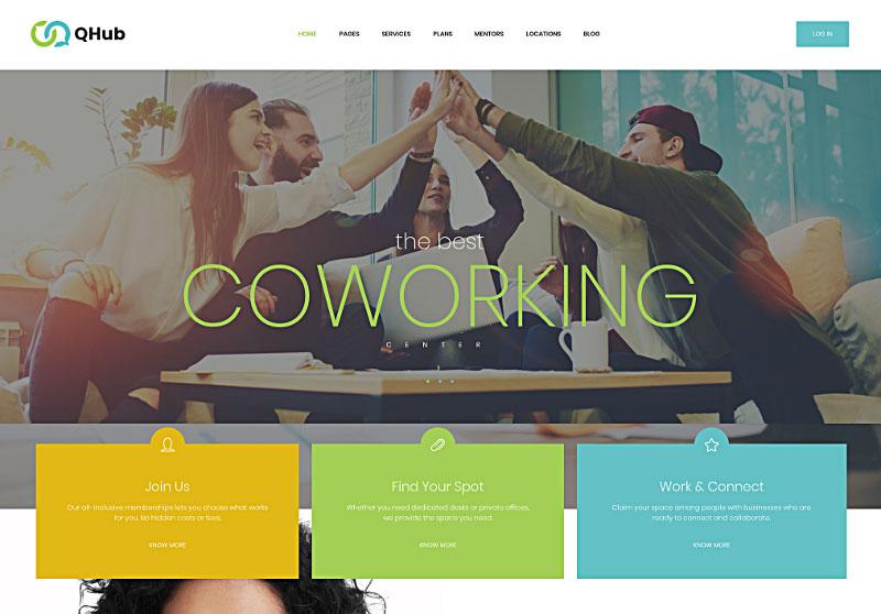 Qhub - Coworking và Office Space WordPress Theme