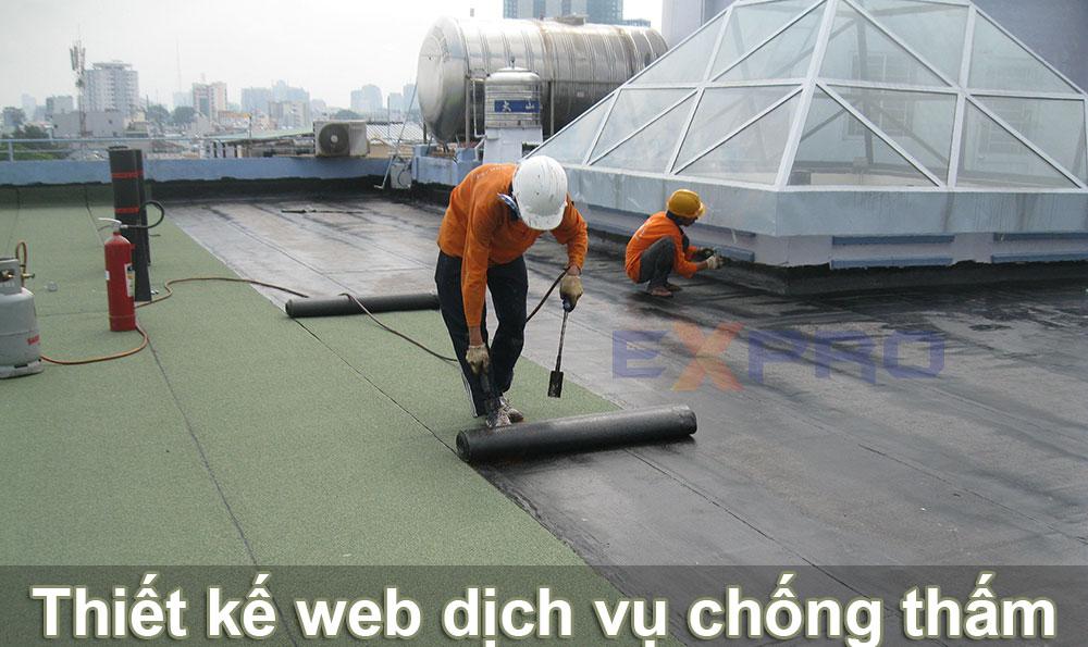 Thiết kế website dịch vụ chống thấm