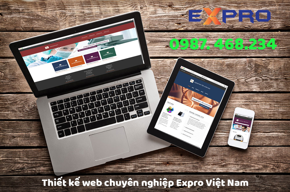 Thiết kế web chuyên nghiệp Expro