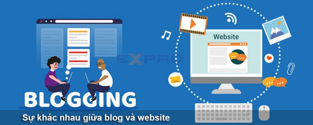 Sự khác nhau giữa blog và website