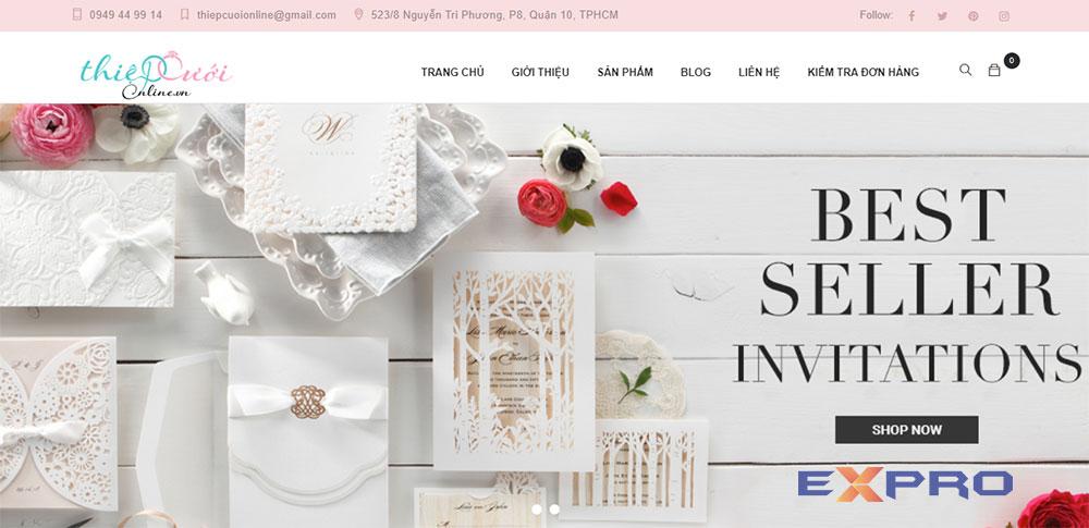Thiết kế web thiệp cưới