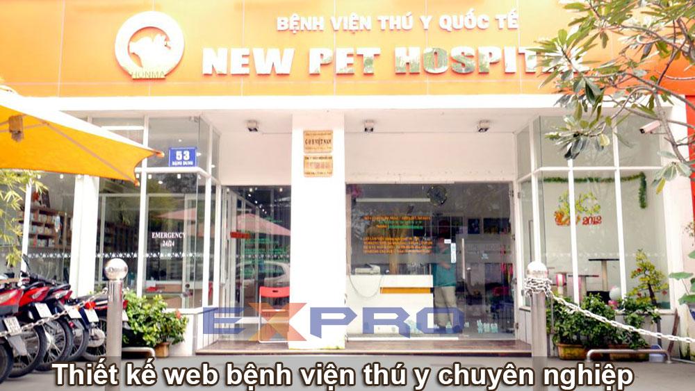 Thiết kế web bệnh viện thú y chuyên nghiệp