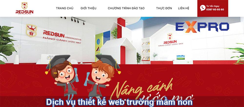 Thiết kế web trường mầm non chuyên nghiệp