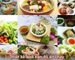 Thiết kế web bán đồ ăn chay cho quán ăn nhà hàng chuyên nghiệp