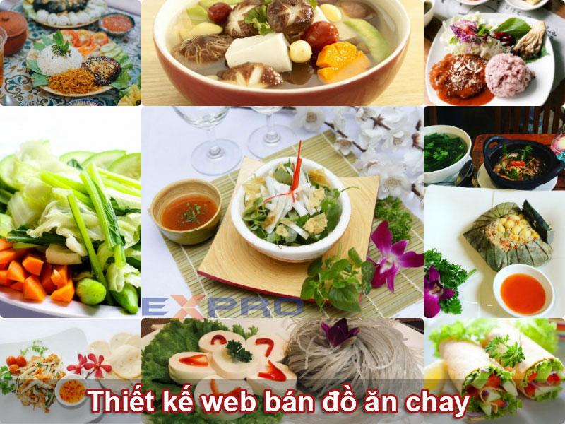 Thiết kế web bán đồ ăn chay quán ăn nhà hàng chuyên nghiệp